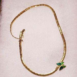 """Vintage AVON Shy Butterfly 15"""" Choker Necklace"""